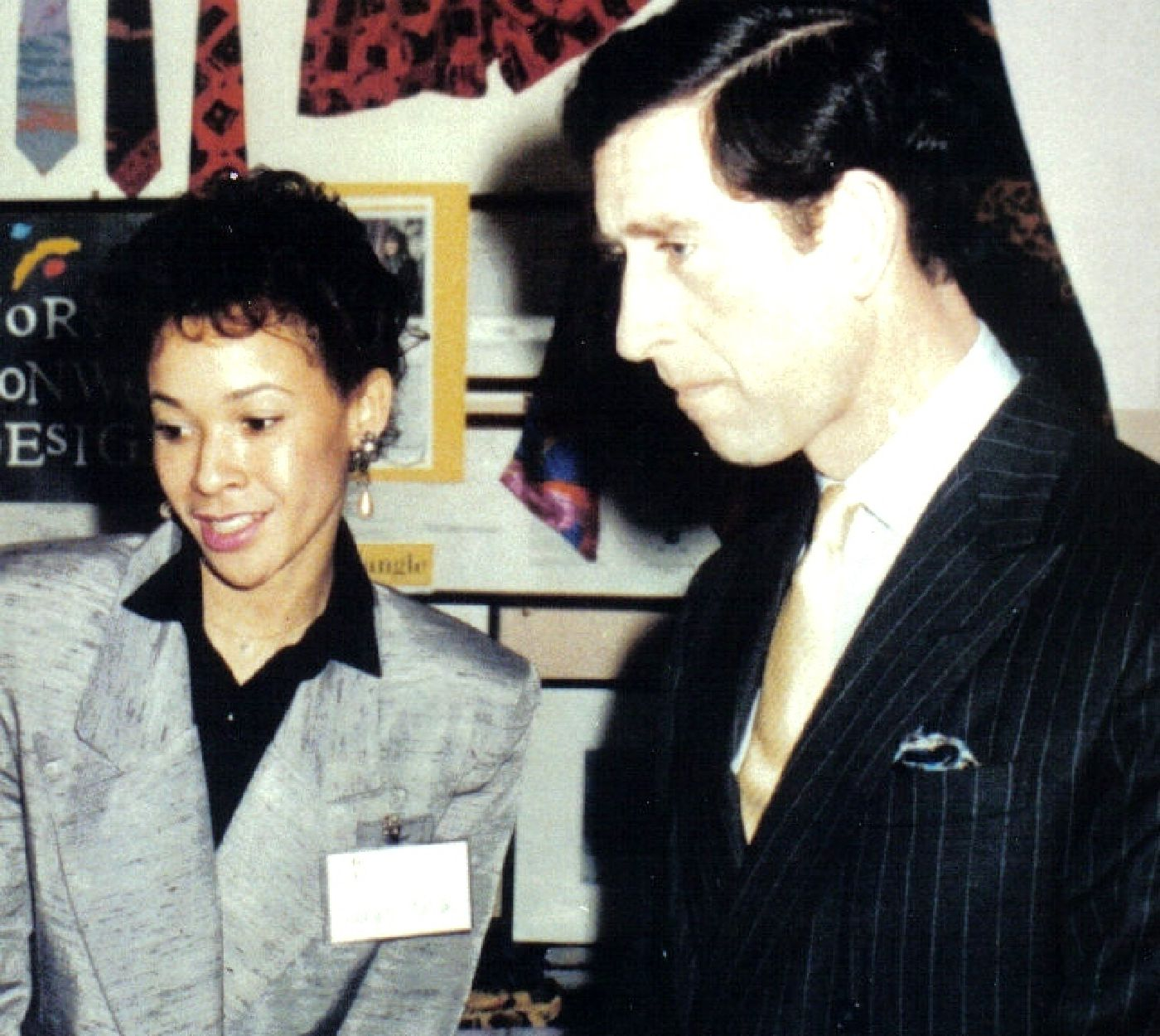 Wendy Souter with HRH Prince Charles at the Opening of OTC UK in 1988
